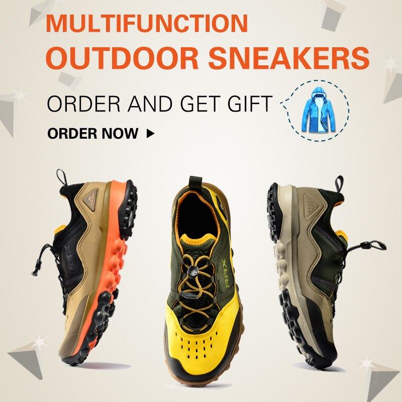RAX Outdoor Breathable Hiking Shoes Men Lightweight Walking Trekking Sneakers Women Antiskid Mountain Climbing Shoes Waterproof