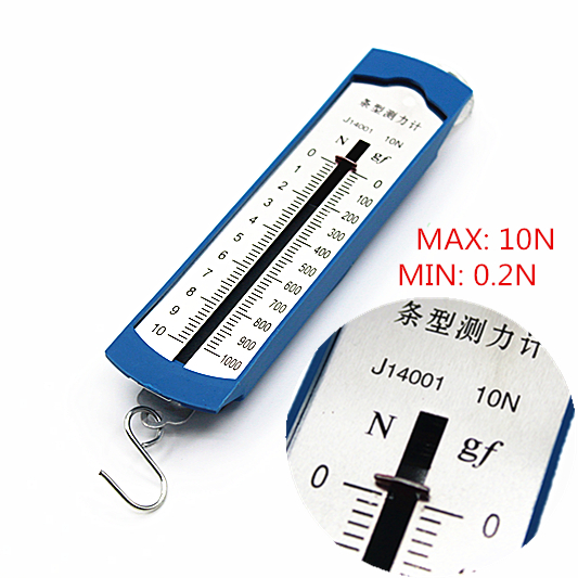 Wholesale 10N Newton Meter / Force Gauge Bar Box Spring Dynamometer Balance Physics Experiments