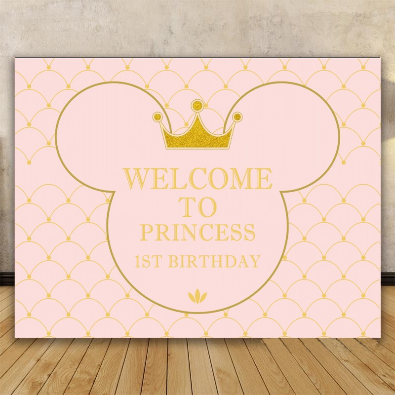 Diy Custom Mickey Mouse Princess Baby Shower Party Pink