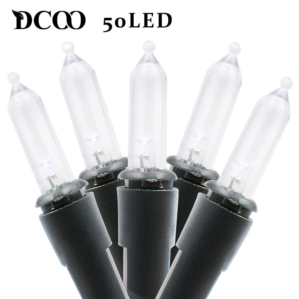 Dcoo M5 Solar String Lights 50 Led Colorfull Clear Mini