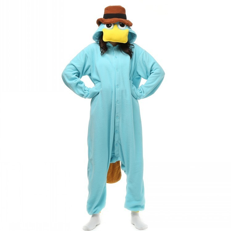 Platypus Unisex Costumes Onesies Monster Cosplay Pyjamas Adult - Kostumer