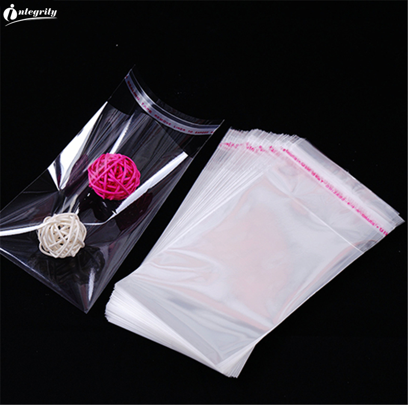 INTEGRITY 500 ps varietys of small size Transparent Resealable Self Adhesive Plastic packaging Cookie/Miscellaneous storage bags title=