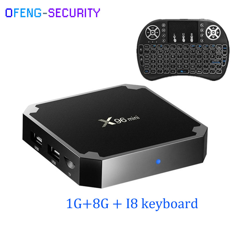 X96 Mini TV BOX Android 7.1 OS Smart TV Box 1GB 8GB With I8 Keyboard Amlogic S905W Quad Core 2.4GHz WiFi IPTV
