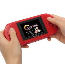 16 Bit PXP3 Handheld Game Player Retro Video Game Console with AV Cable Support TV-out 2 Game Cards PXP 3 Slim Station