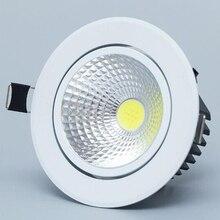 Диммируемый светодиодный светильник COB Потолочный Точечный светильник 3 Вт 5 Вт 7 Вт 12 Вт 85-265 в потолочный встраиваемый светильник s Внутреннее освещение