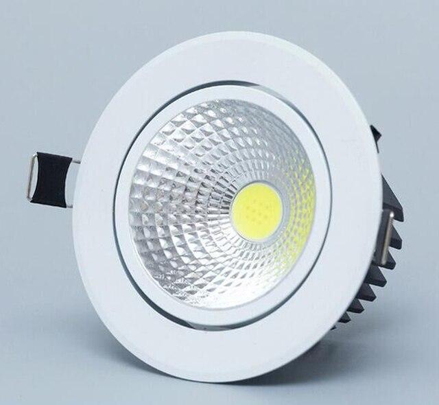 ניתן לעמעום Led downlight אור תקרת COB אור ספוט 3 w 5 w 7 w 12 w 85-265 V תקרת אורות הפסקה תאורה פנימית