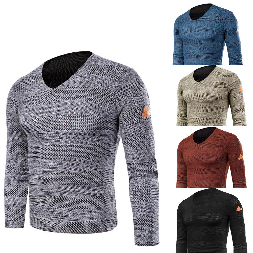 Baoaili Cool Boy Worth Having Quality Pullover Men Solid Fashion Style Long Sleeve Sweater Low Price Promotions 3L50