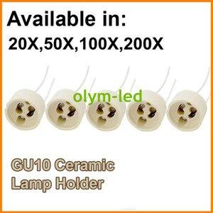 Image 1 - 20X הטוב ביותר באיכות קרמיקה GU10 מנורת Socket בסיס LED אור GU10 בעל בסיס 15CM כבל מחבר מהיר משלוח CE roHS