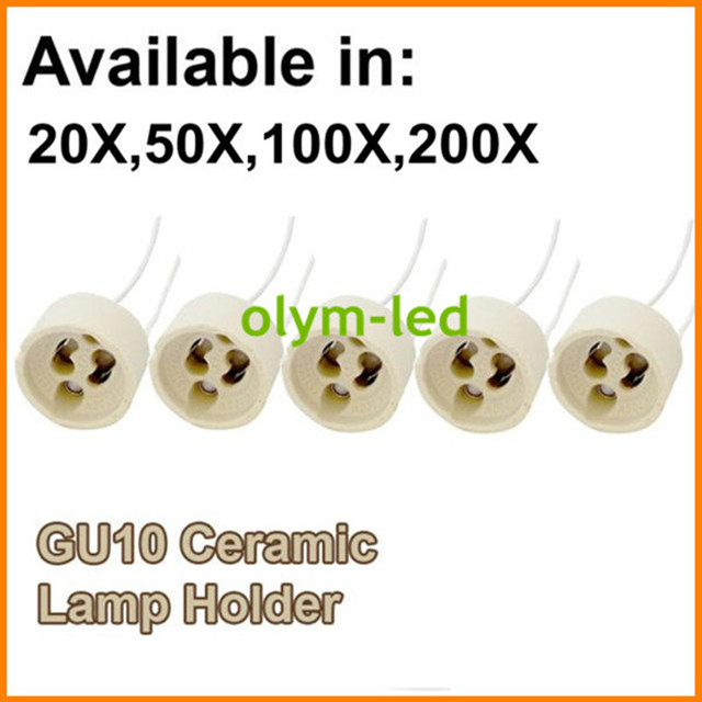 20X הטוב ביותר באיכות קרמיקה GU10 מנורת Socket בסיס LED אור GU10 בעל בסיס 15CM כבל מחבר מהיר משלוח CE roHS