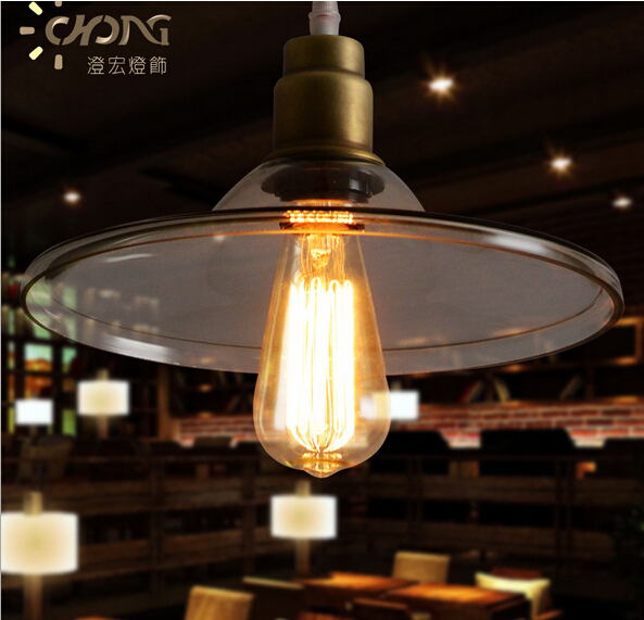 loft iron glass led e27 vintage pendant light American industrial lamp for dining room bar restaurant decor AC 90-265V 1855 american industrial style wrought iron glass ball pendant light rectangle vintage cafe decoration light pendant lamp dining room
