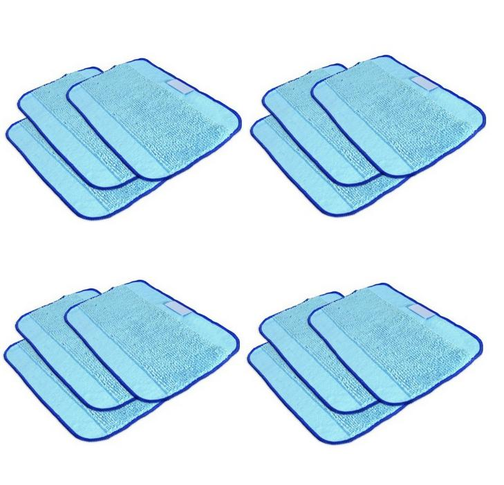 12pcs/Lot Microfiber Dweeping Mopping Cloth wet pad for iRobot Braava 380 380t 320 Mint 4200 4205 5200 5200C Robot replacement new 3pcs deep clean blue microfiber replacement washable wet mopping pads for braava jet 240 cleaner