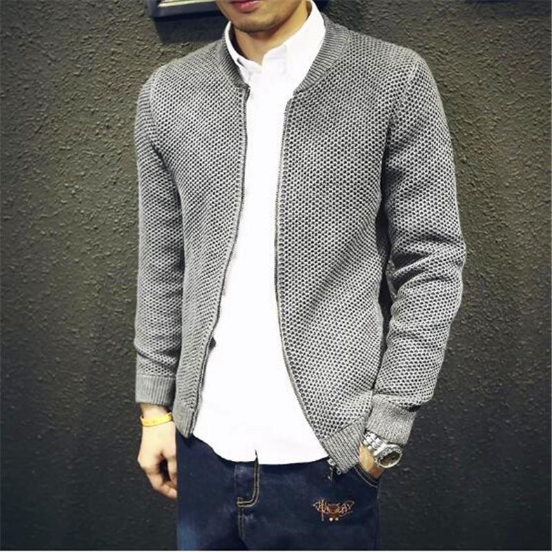 Free Shipping Slim Sweater Jacket For Men 2018 New Autumn Teenage Boy Cardigan Outerwear Male Clothing Zipper Fashion