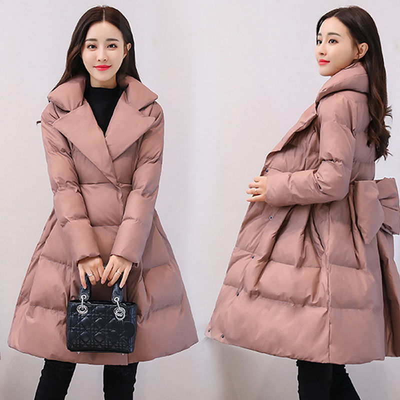 Thicken-Down-Cotton-Jacket-Coat-Women-Print-Winter-Jacket-Women-Skirt-Style-Long-Parka-Elegant-Wadded_
