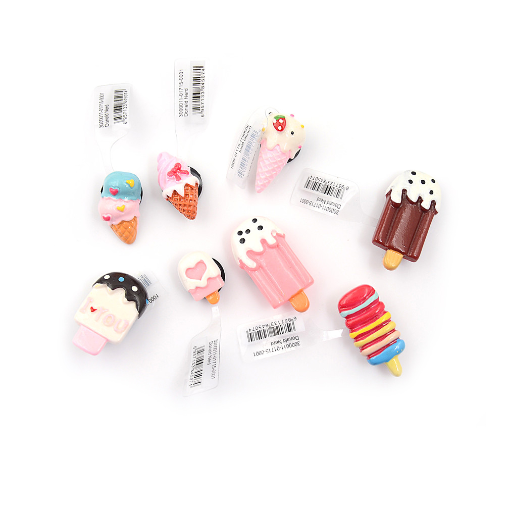 Shoe Decoration 1pcs Cake Resin Shoe Charms Accessories Lovely Ice Cream Style Kids Party Gifts yves saint laurent full metal shadow жидкие тени для век 14 fur green page 1