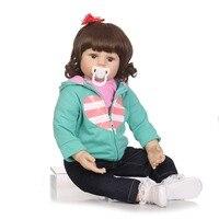 NPKCOLLECTION bebes возрожденная менина де силиконовые menina 55 см мягкие реального touch игрушечные лошадки для детей подарки на день рождения детская и