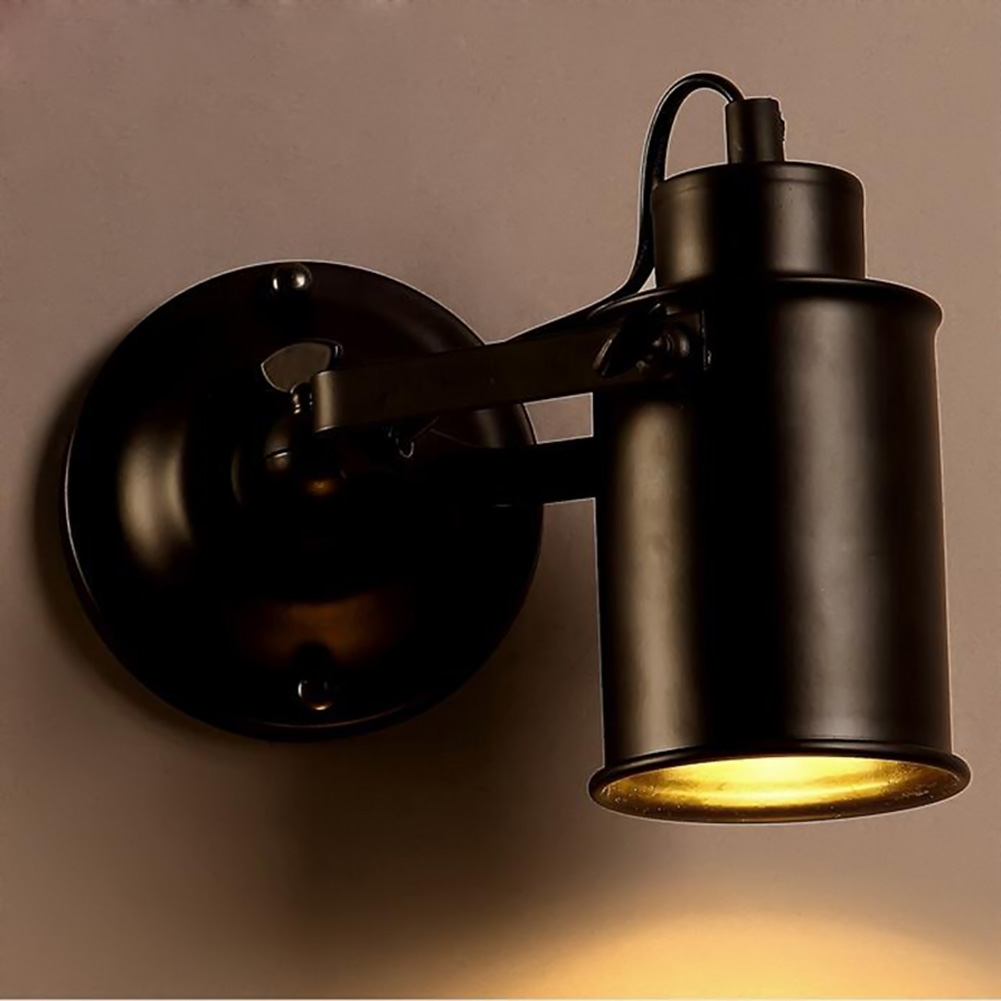 wall lamps creative vintage black rustic wall sconce lights loft industrial home bedroom bedside wall lamp