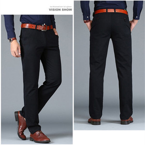 Image 4 - ICPANS Pants Loose Cotton Full Length Men Pants Casual Pockets Army Khaki Black Male Trousers Pants Men social Big Size Summer