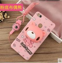Xiaomi redmi 4x case тпу милый мультфильм шаблон + шнур с кронштейн защитная крышка для xiaomi redmi 4x (5.0 «) мягкие силиконовые