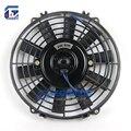 Universal 9'' Electric Condenser Cooling Fan 12V / 24V for Pickup Bus Truck Excavator Harvester A/C