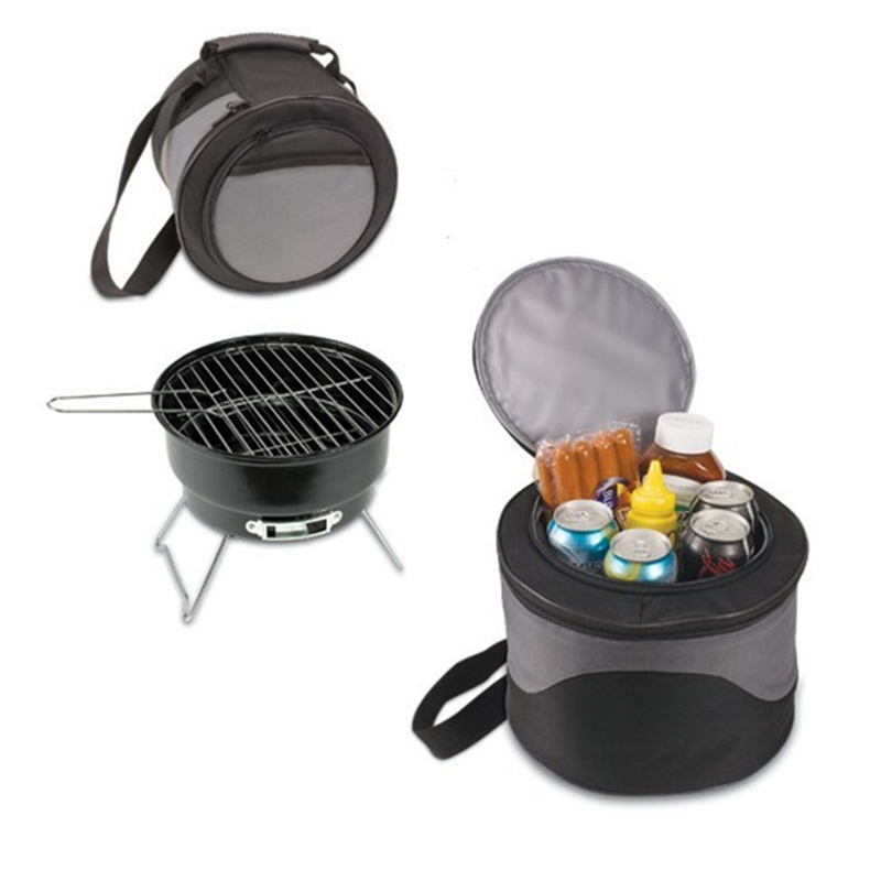 Portable grill Outdoor Household Barbecue Charcoal Portable BBQ Mini Grill With Bags farm graden BBQ Picnic fishing grill