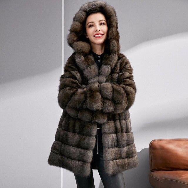 best website c369d ad41e US $99999.0 |Genuine pelliccia di visone donne cappotti di pelliccia reali  di fascia alta giacca di pelliccia di lusso di alta qualità visone martora  ...