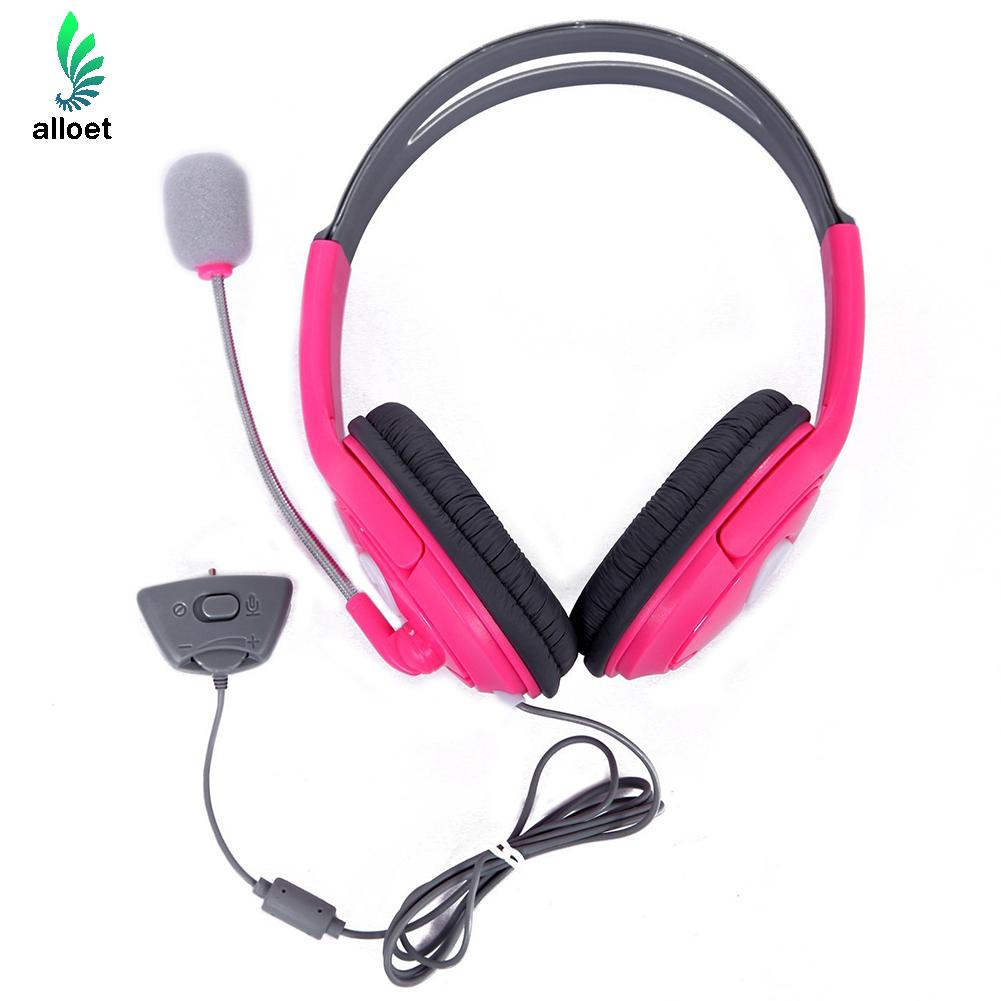 10M Live Big Gaming Headset Headphones Stereo Sound Voice Control With Microphone for Xbox 360 Chat Gaming Headphones Pink Color