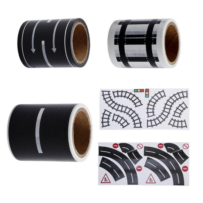 Kids Intellect Improving Adhesive Railway Road Highway Sticker Tape Toy