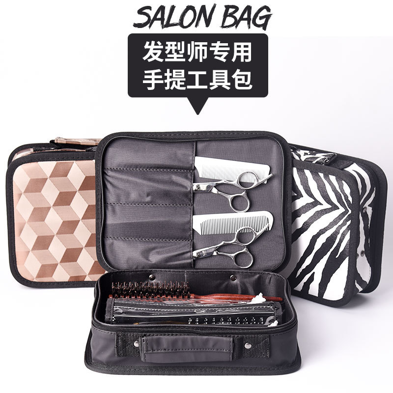 Beauty Salon Barber Tool kits Hair Blow Dryer Scissors Comble Clips Profesional Hair Styling Accessories Bags