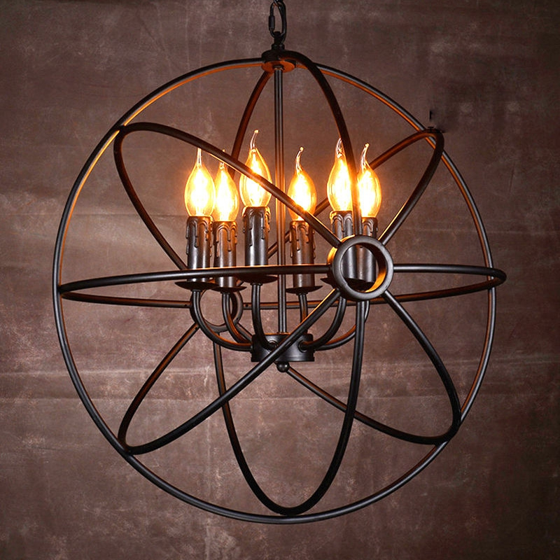 LukLoy Vintage Pendant Lamp, Industrial Lamp Lights Iron Cage Edison for Kitchen Island Dining Room Corridor Ceiling Decor edison inustrial loft vintage amber glass basin pendant lights lamp for cafe bar hall bedroom club dining room droplight decor