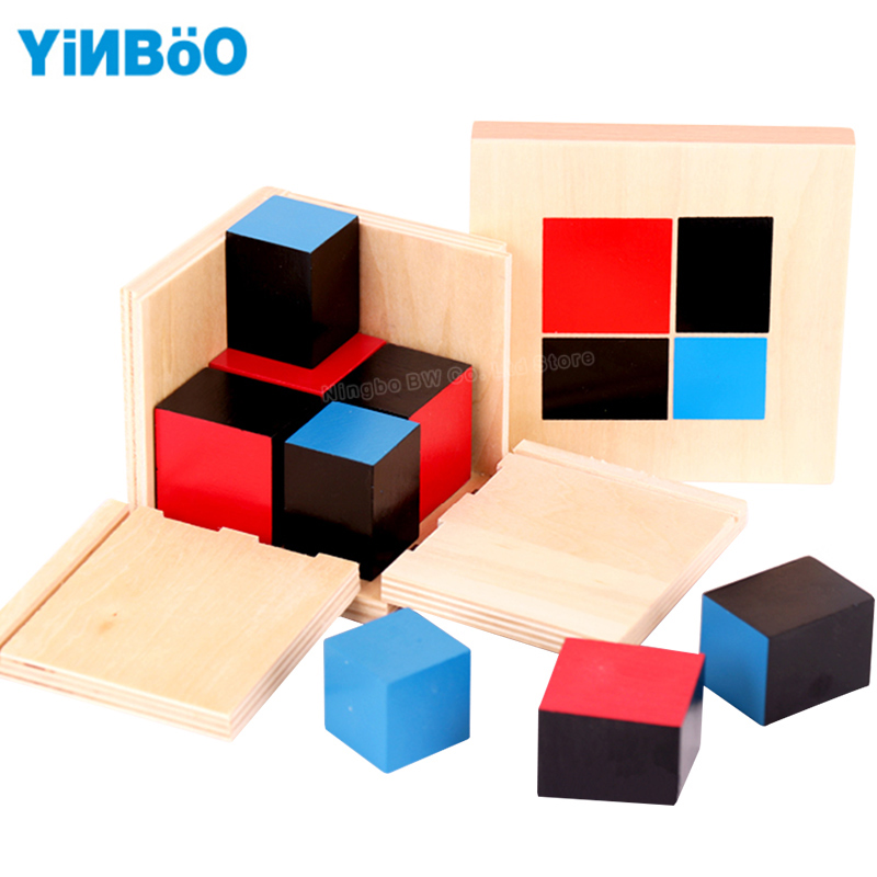 Baby font b Toy b font Montessori Algebraic Binomial Cube Early Childhood Education Preschool Training Math