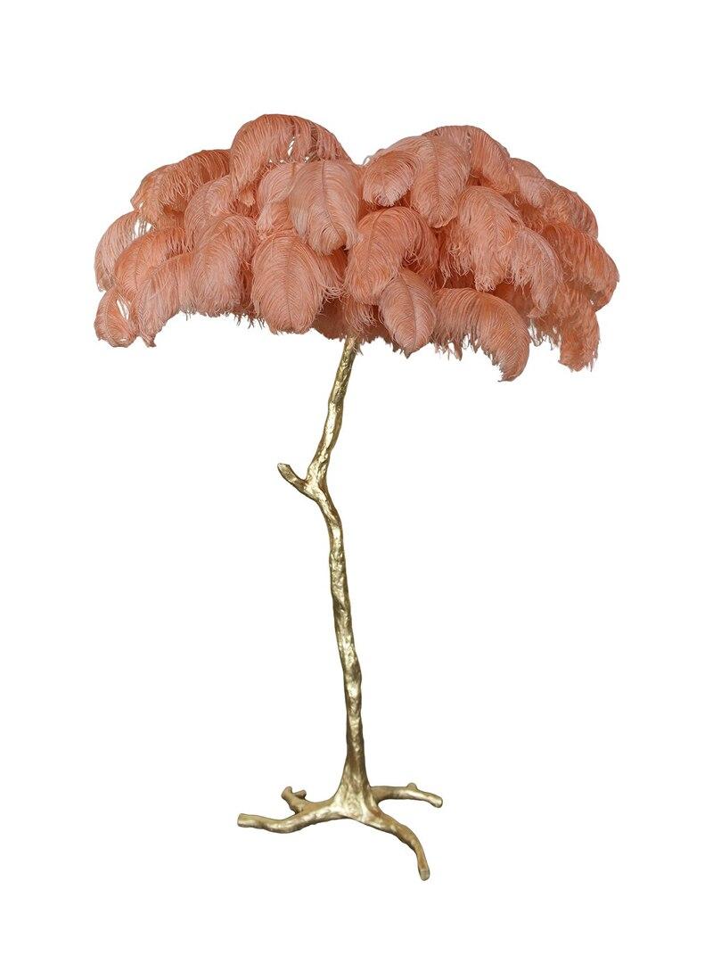 Lámpara de pluma de avestruz de iluminación de la habitación de estar del Hotel