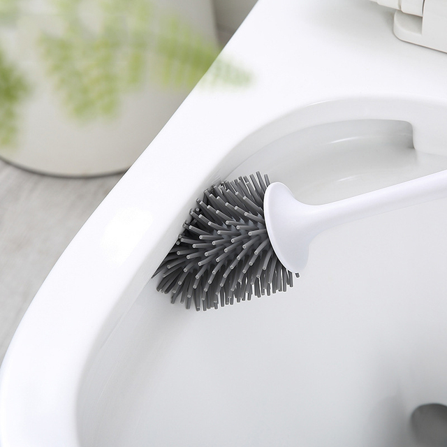 Self Cleaning Rubber Toilet Brush - Wall Hanging  2