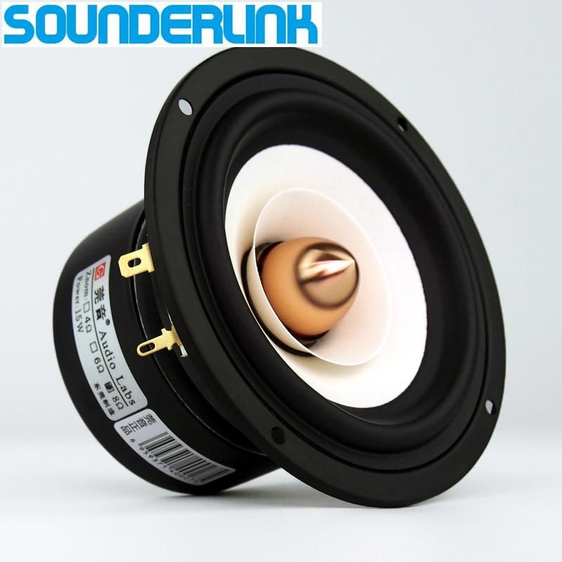 Monitor Speaker Tweeter Woofer Audio Bullet Sounderlink Kapton Aluminum Full-Range 4inch