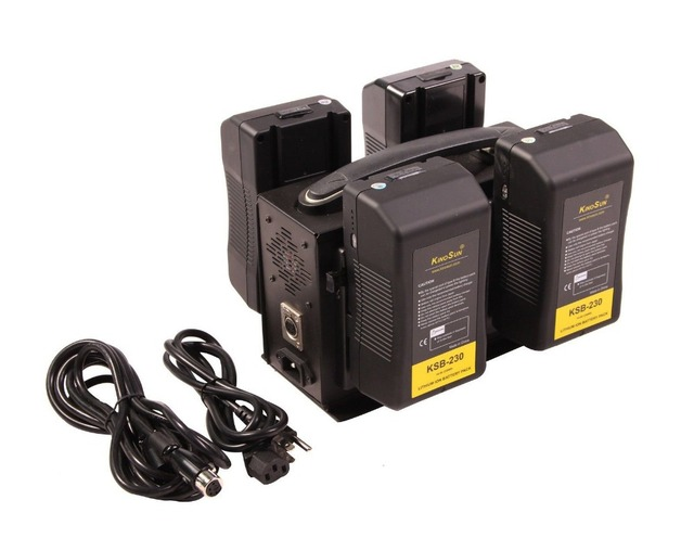 4x 230Wh battery + 1x 4-channel Charger Sony V mount for RED Alexa F55