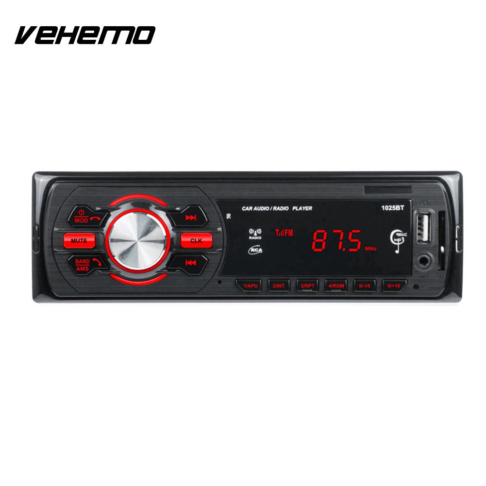 Vehemo 1025BT Car MP3 Player Auto Audio Bluetooth Car MP3 Premium Smart Music