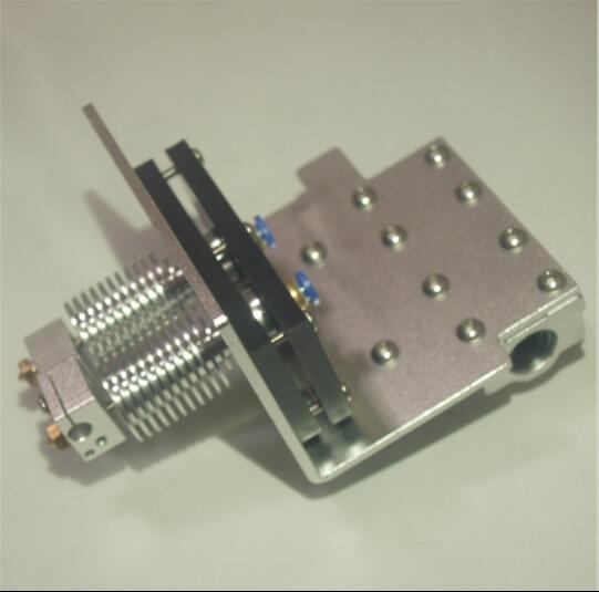 1.75mm Reprap Prusa i3 3D imprimante X axe bowden double extrémité chaude + X kit de chariot d'exturder en métal Prusa double chariot d'extrudeuse bowden
