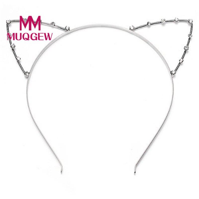 MUQGEW Special style Women Cat Ear Headband Pearl Shape Rhinestone Hair Band Headwear-Highlight accessoire cheveux night party club decorate headbands for women cat fox ear headband cosplay head band