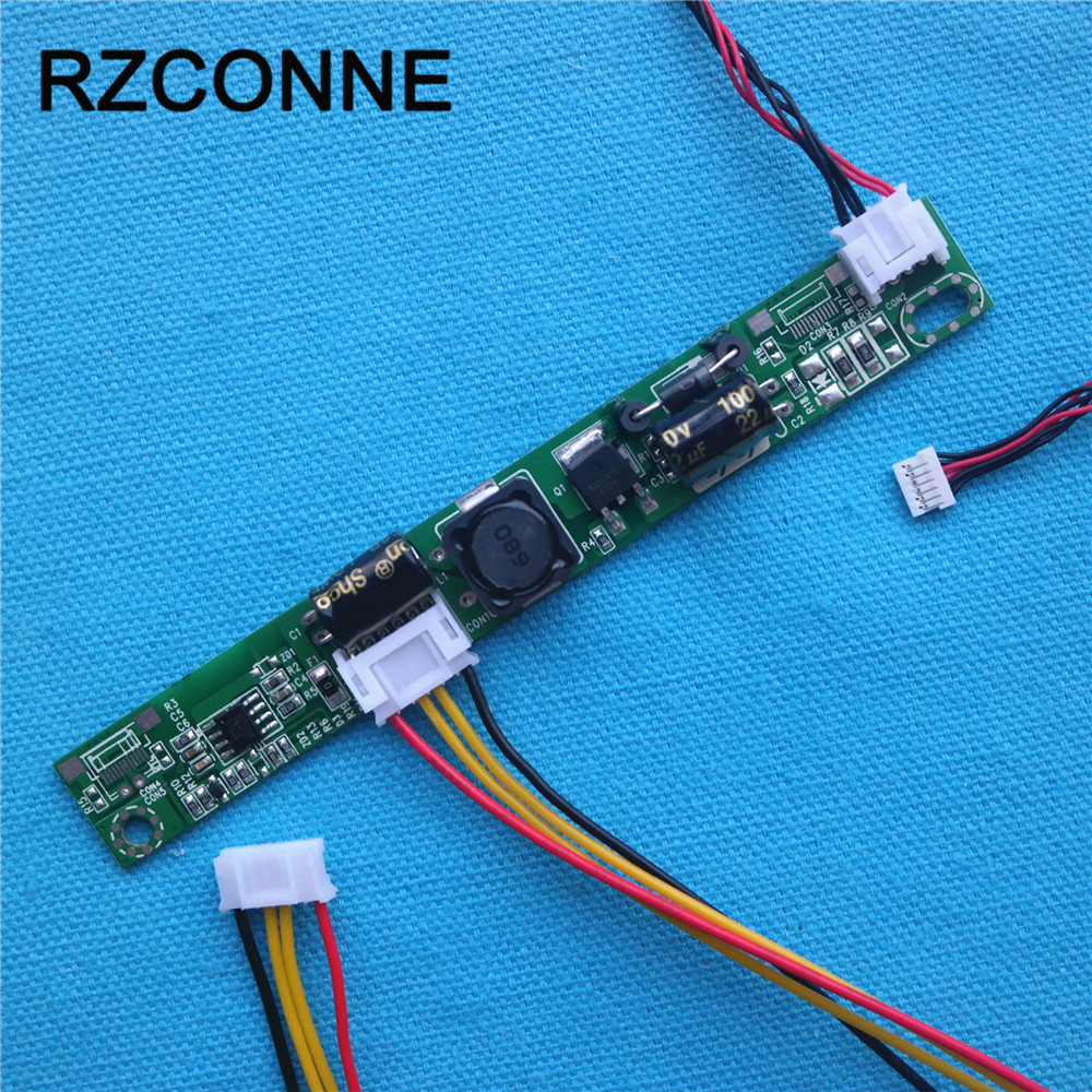 Universal LED Backlight Inverter driver board booster Input 12V Output 20V-80V for 15-24 inch LCD Monitors with 6pin cable