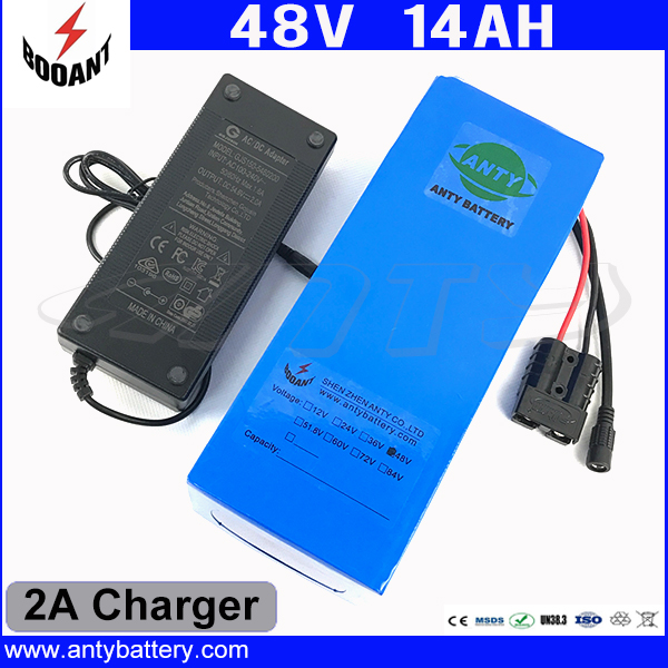 1000W 48V 14Ah eBike Battery For 8Fun Bafang Motor Lithium ion Battery 48V With 2A Charger 30A BMS 18650 Cell Free Shipping free customs taxes super power 1000w 48v li ion battery pack with 30a bms 48v 15ah lithium battery pack for panasonic cell