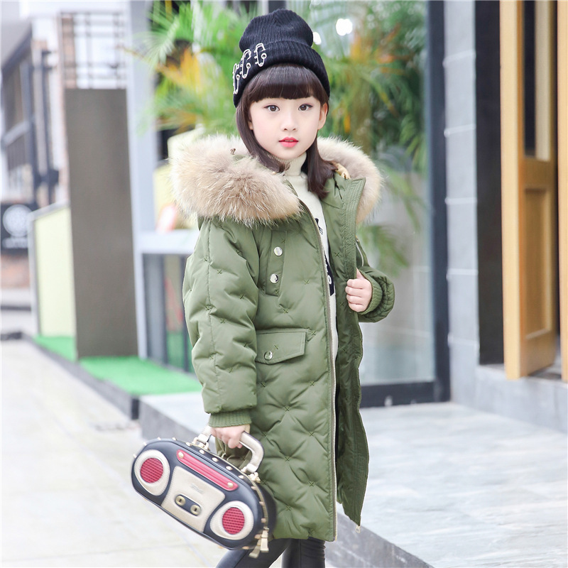 OLEKID -30 Degree Russia Winter Down Jacket For Girls Hooded Long Thicken Warm Boys Outerwear Coat 2-14 Years Kids Down Parka 2018 children down jacket girls winter long section kids clothing thick coat 30 degree warm outerwear for 7 9 10 11 13 years
