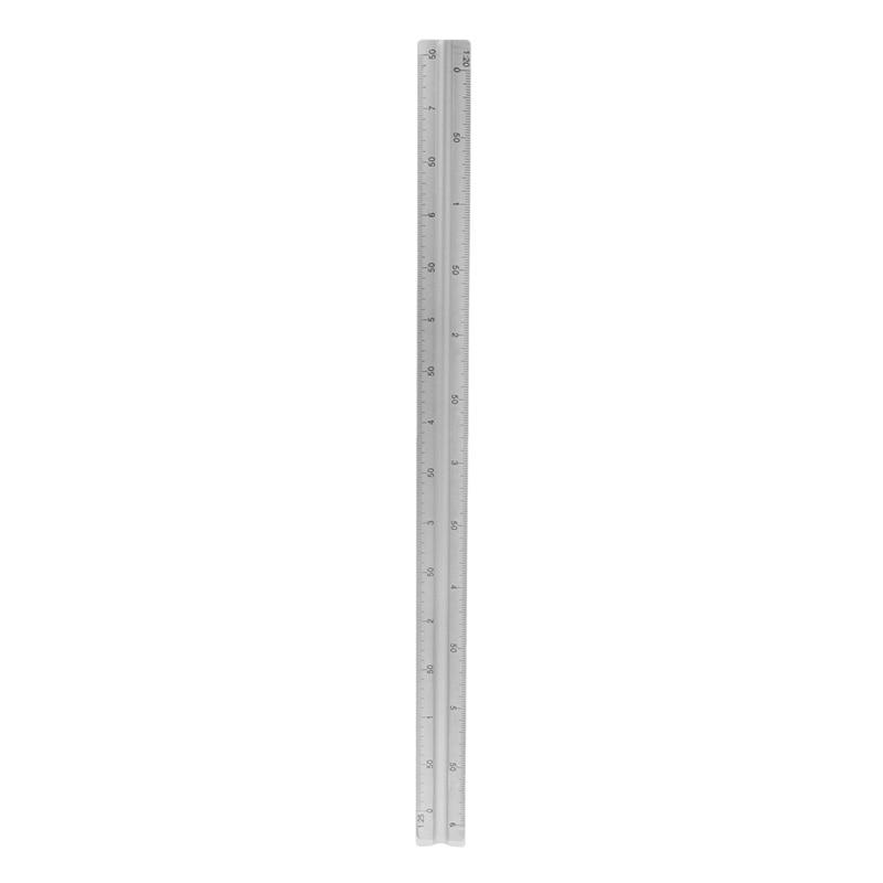 "30cm Aluminium Metal Triangle Scale Architect Engineer Technical Ruler 12"" #4"