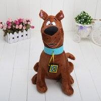 13 '' Yüksek Kalite Yumuşak Peluş Sevimli Köpek Scooby Doo Bebekler Dolması Oyuncak Yeni Toptan ve Perakende