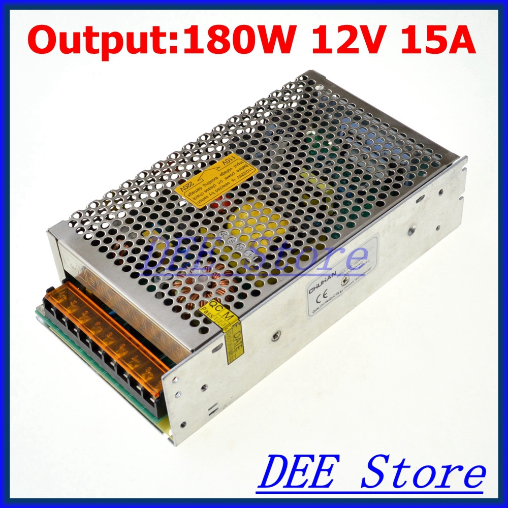 Led driver 180W 12V 15A Single Output Adjustable Switching power supply unit for LED Strip light AC-DC Converter led driver 1200w 24v 0v 26 4v 50a single output switching power supply unit for led strip light universal ac dc converter