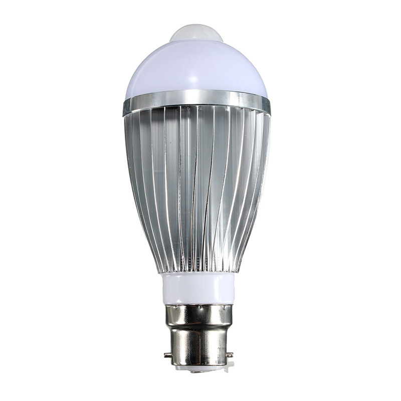 B22 Smart Lamp 7W LED Light Bulb Globe Auto PIR Motion Sensor Detection 5730 SMD 12LED Lamp Lighting 85 - 265 V