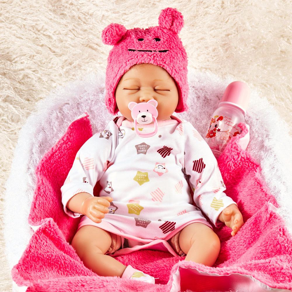 55CM SOFT Silicone Reborn Baby Dolls Handmade Cloth Body Reborn Babies Doll Toys Play House Baby Growth Partners Brinquedos