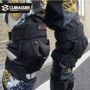 Image 3 - Motorcycle Knee Pads Guards Cuirassier Elbow Racing Off Road Protective Kneepad Motocross Brace Protector Motorbike Protection