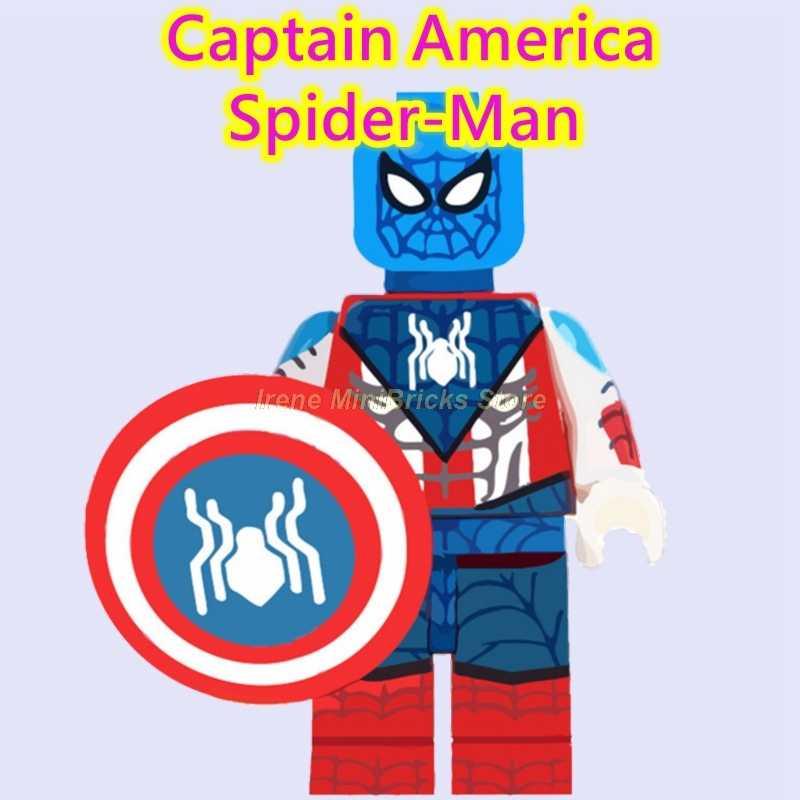 Marvel Spiderman Xa Gia Đình Vào Nhện Câu Thơ Dặm Morales Avengers Endgame Thanos Khối Xây Dựng Captain Marvel Đồ Chơi