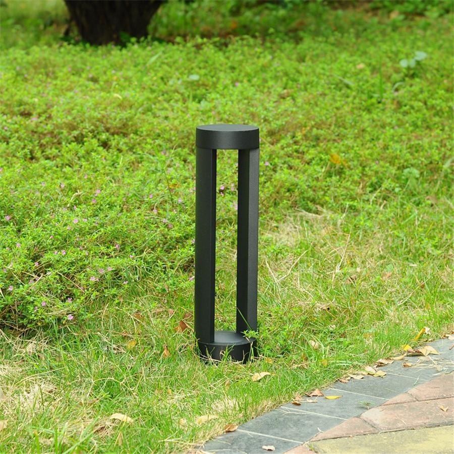 BEIAIDI 40/60 cm Moderna A LED per Esterni Parco Patio Giardino Prato Luce Impermeabile 2 di Alluminio Colonna Comunità Parco Pathway della Lampada - 5