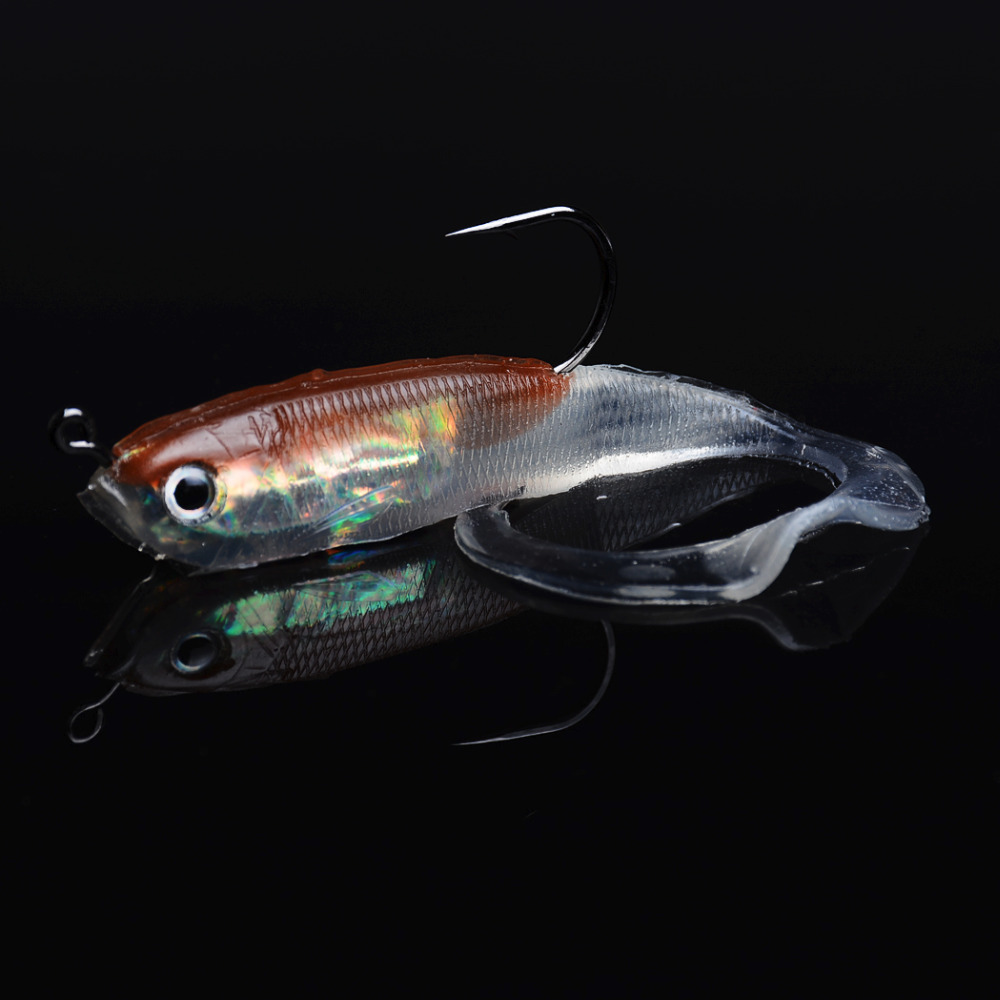 5pcs 10cm 14 7g Soft Fishing Lures Lead Fish Silicone Bait Wobblers Soft Lure Shad For Fishing Tackle in Fishing Lures from Sports Entertainment