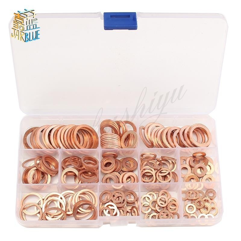 50Pcs/120Pcs /200Pcs /280PcsDIN7603 M5 M6 M8 M10 M12 M14 T3 Copper Sealing Washer For Boat Crush Washer Flat Seal Ring Fitting image